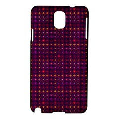Funky Retro Pattern Samsung Galaxy Note 3 N9005 Hardshell Case by SaraThePixelPixie