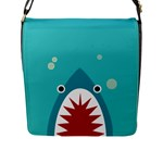 shark - Flap Closure Messenger Bag (L)