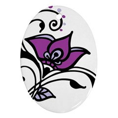 Awareness Flower Oval Ornament by FunWithFibro