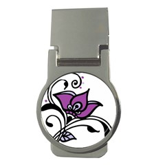 Awareness Flower Money Clip (Round) by FunWithFibro
