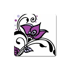 Awareness Flower Magnet (square) by FunWithFibro