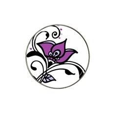 Awareness Flower Golf Ball Marker (for Hat Clip) by FunWithFibro
