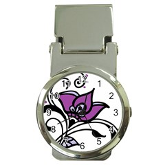 Awareness Flower Money Clip With Watch by FunWithFibro