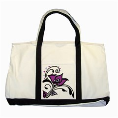 Awareness Flower Two Toned Tote Bag by FunWithFibro