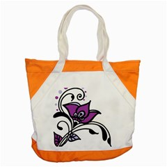 Awareness Flower Accent Tote Bag by FunWithFibro