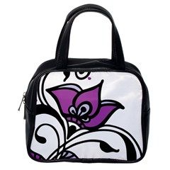 Awareness Flower Classic Handbag (one Side) by FunWithFibro