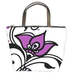 Awareness Flower Bucket Handbag by FunWithFibro