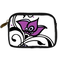 Awareness Flower Digital Camera Leather Case by FunWithFibro