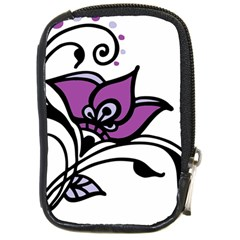 Awareness Flower Compact Camera Leather Case by FunWithFibro