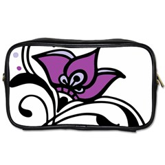 Awareness Flower Travel Toiletry Bag (two Sides) by FunWithFibro