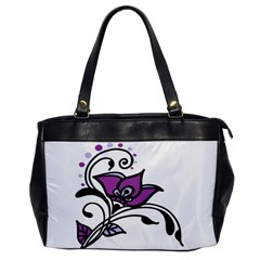 Awareness Flower Oversize Office Handbag (one Side) by FunWithFibro