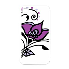 Awareness Flower Apple Iphone 4 Case (white) by FunWithFibro