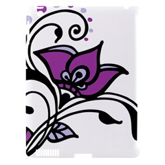 Awareness Flower Apple Ipad 3/4 Hardshell Case (compatible With Smart Cover) by FunWithFibro