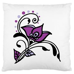 Awareness Flower Large Cushion Case (two Sided)  by FunWithFibro