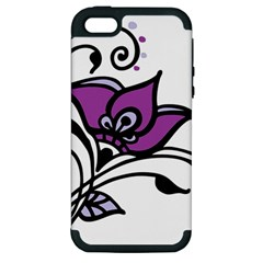 Awareness Flower Apple Iphone 5 Hardshell Case (pc+silicone) by FunWithFibro