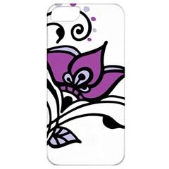 Awareness Flower Apple Iphone 5 Classic Hardshell Case by FunWithFibro