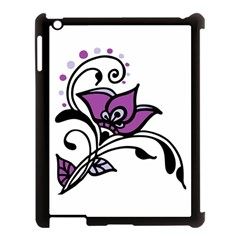 Awareness Flower Apple Ipad 3/4 Case (black) by FunWithFibro