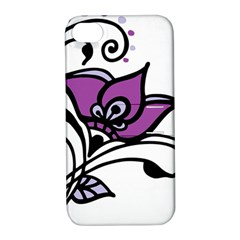 Awareness Flower Apple Iphone 4/4s Hardshell Case With Stand by FunWithFibro