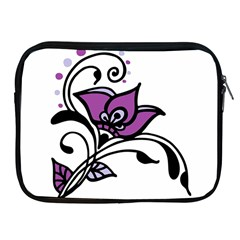 Awareness Flower Apple Ipad Zippered Sleeve by FunWithFibro