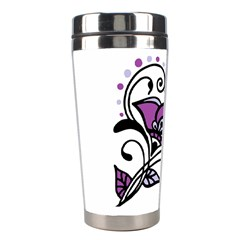 Awareness Flower Stainless Steel Travel Tumbler by FunWithFibro