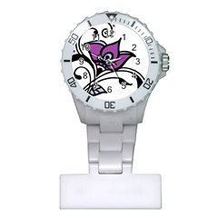 Awareness Flower Nurses Watch by FunWithFibro