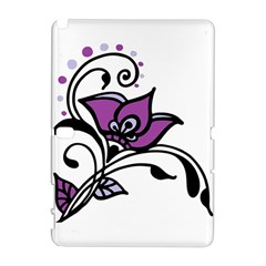 Awareness Flower Samsung Galaxy Note 10 1 (p600) Hardshell Case by FunWithFibro