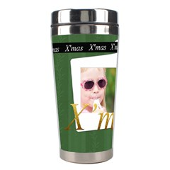 Christmas By Joely   Stainless Steel Travel Tumbler   8p2vboy165pm   Www Artscow Com Left