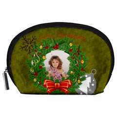 Christmas By Debe Lee   Accessory Pouch (large)   Un5c234lht2v   Www Artscow Com Front
