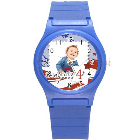 Usa By Anita   Round Plastic Sport Watch (s)   Hikt8g3cwhe5   Www Artscow Com Front