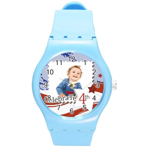 Usa By Anita   Round Plastic Sport Watch (m)   Awuhmch10roi   Www Artscow Com Front