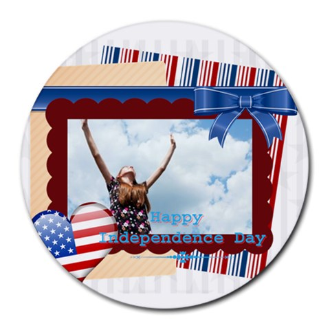 Usa By Usa   Round Mousepad   N3y3t7z77vdt   Www Artscow Com Front