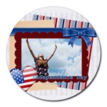 usa - Round Mousepad