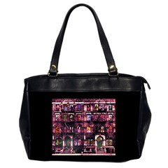 Physical Graffitied Oversize Office Handbag (two Sides) by SaraThePixelPixie