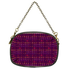 Funky Retro Pattern Chain Purse (two Sided)  by SaraThePixelPixie