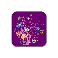 Flowery Flower Drink Coaster (square) by SaraThePixelPixie