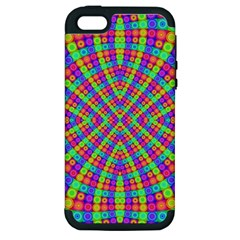 Many Circles Apple Iphone 5 Hardshell Case (pc+silicone) by SaraThePixelPixie