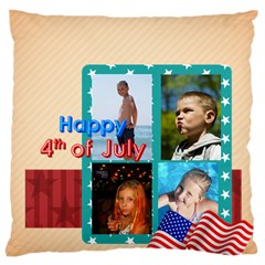 Usa 4 July By Usa   Large Cushion Case (two Sides)   0vco6rqwzjly   Www Artscow Com Front