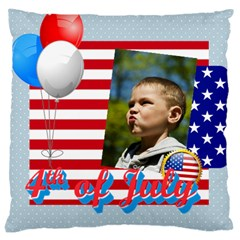 Usa 4 July By Usa   Large Cushion Case (two Sides)   Tgaccv0u4nla   Www Artscow Com Front