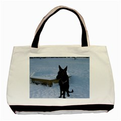 Snowy Gsd Classic Tote Bag by StuffOrSomething