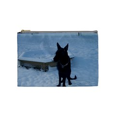 Snowy Gsd Cosmetic Bag (medium) by StuffOrSomething