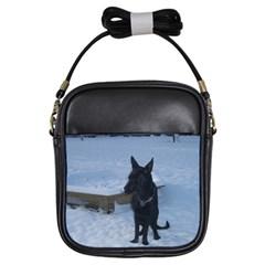 Snowy Gsd Girl s Sling Bag by StuffOrSomething