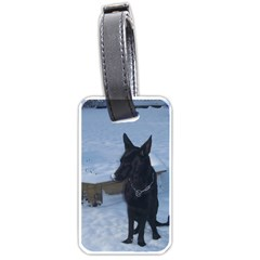Snowy Gsd Luggage Tag (two Sides) by StuffOrSomething