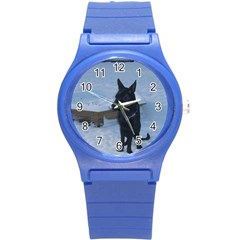 Snowy Gsd Plastic Sport Watch (Small) by StuffOrSomething