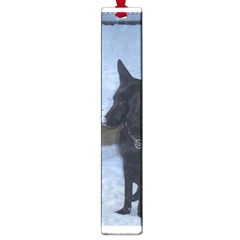 Snowy Gsd Large Bookmark by StuffOrSomething