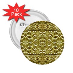 Gold Plated Ornament 2 25  Button (10 Pack) by dflcprints