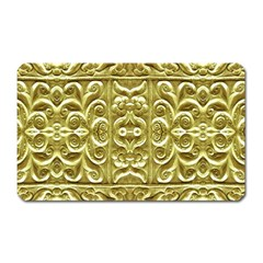 Gold Plated Ornament Magnet (rectangular)