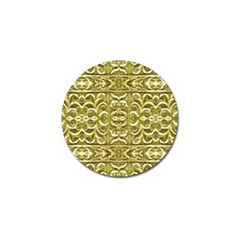 Gold Plated Ornament Golf Ball Marker by dflcprints