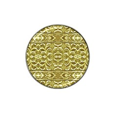 Gold Plated Ornament Golf Ball Marker 4 Pack (for Hat Clip) by dflcprints