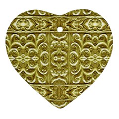 Gold Plated Ornament Heart Ornament (two Sides) by dflcprints