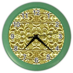 Gold Plated Ornament Wall Clock (color)